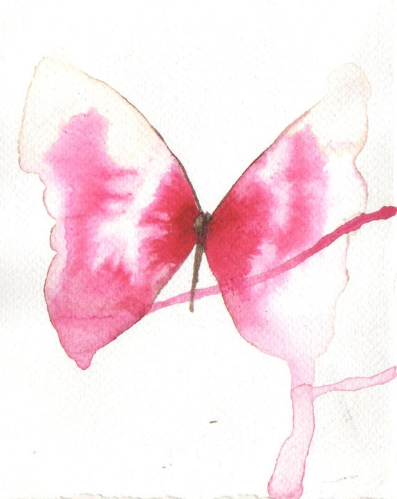pink and white striped butterfly flying