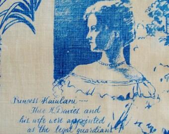 Mens Vintage 70s Theo Davies Hamakua Sugar Princess Kaiuilani History of Hawaii Hawaiian Shirt - 3XL XXXL - The Hana Shirt Co