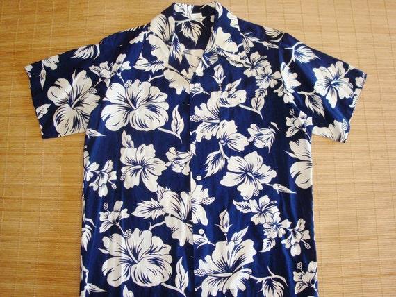 Mens Vintage 70s Mod Hawaiian Tiki Aloha Surf Shirt XL -  The Hana Shirt Co