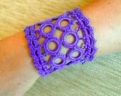 Crochet & Romanian Point Lace Cuff
