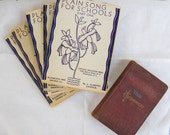 Antique Catholic Book Set Catholic School Songs and New Testament