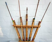 Vintage Handmade Bow and Arrow Set 1950s Wooden Cowboys and Indians Toy