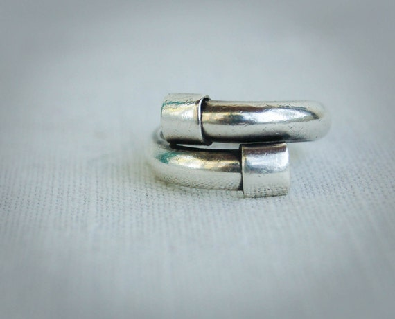 Vintage Unisex Ring Mexican Sterling Adjustable Band