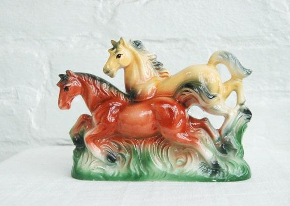 Vintage Horse Figurine Ceramic Sculpture