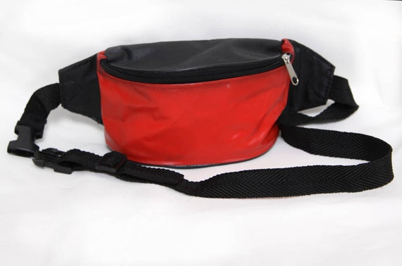 Vintage Small Red and Black Hip Pack