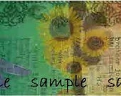 Bohemian Watercolor Dream Etsy Shop Banner Set Sunflowers Butterfly Dragonfly