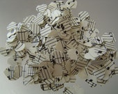 Upcycled Sheet Music Confetti, 500 Die Cut MINI Hearts. Other Amounts and Shapes Available. Custom Orders Welcome.