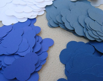 """300 Clouds. 1.5"""". CHOOSE YOUR COLORS. Scrapbooking. Confetti For Wedding, Shower, Etc."""