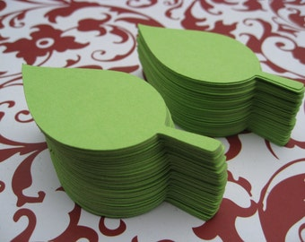 45 Apple Leaves. 2.5 inches. CHOOSE YOUR COLORS.  Wedding, Favor, Tags, Escort, Wishing Tree, Thank You.