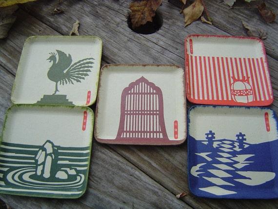 Vintage Japanese Paper Coasters