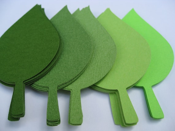 350 Apple Leaves in Greens. 4 inch. CHOOSE YOUR COLORS. Wedding Escort Cards, Favor, Place Tags, Gift Tags, Wishing Tree.