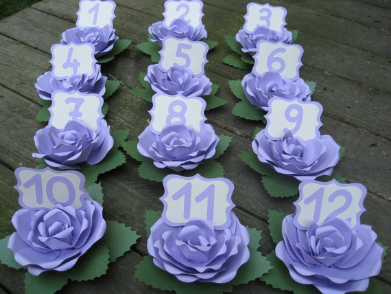 Table Number Roses. CHOOSE YOUR COLORS & Amount. Wedding Centerpiece, Table Decoration. Custom Orders Welcome.