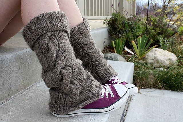 Leg Warmers Knitting Pattern In The Round : Knitting PDF PATTERN Cap A Chino Legwarmer by DandilionGirlDesigns