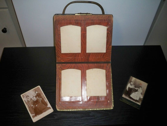 SALE -  Antique Photo Album Set - Very Rare and Unique