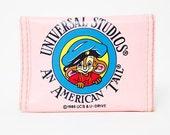 Vintage 80s Pink An American Tail Wallet Universal Studios Fievel Mousekewitz