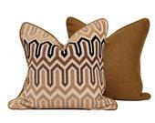 Modern Saw Tooth Pattern Pillow