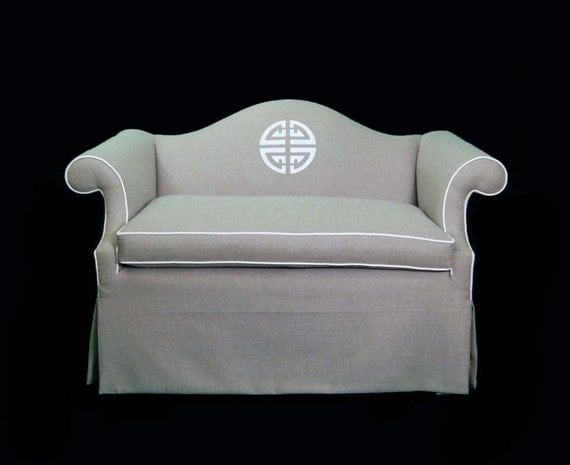 Camel Back Tailored Loveseat