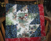 """14"""" x 14"""" PILLOW COVER - Classic Antique Story book Little Red Riding Hood in Forest Fairy Tale"""