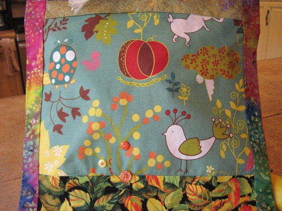 """14"""" x 14"""" PILLOW COVER - Farmers Market Whimsical Woodland Animals on soft blue"""