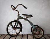 RESERVED for Shannon - Vintage Blue Children's Tricycle