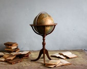 RESERVED for Lanora - Vintage World Globe with Stand