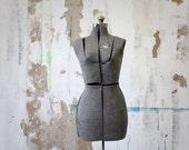 Vintage Acme Adjustable Gray Dress Form, Size A