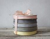 Vintage Seam Binding :  Macaroon Collection