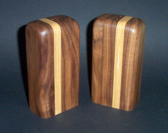 Salt and Pepper Shakers (American Black Walnut and Baltic Birch Plywood)