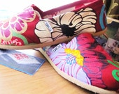 "Hand Painted TOMS ""Fresh from the Graden: 4th Coming"" Customs"