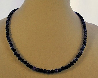 Sodalite Necklace, Choker Necklace, Blue Jewelry