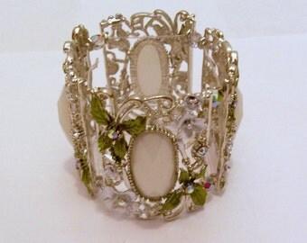 Silver Bracelet - Wide Cuff