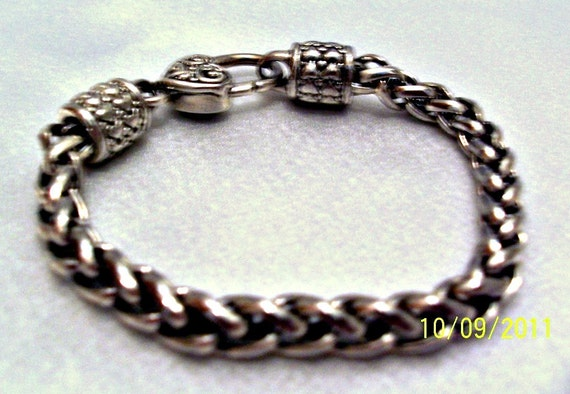 Vintage Silver Bracelet Chain Link Jewelry, Price Reduced