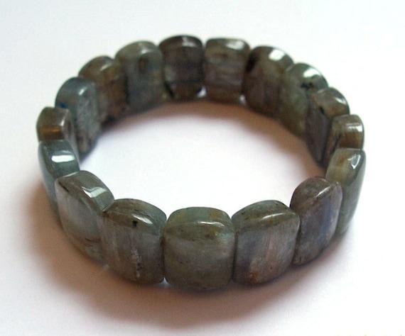 Kyanite Bracelet, Green Kyanite, Gemstone Jewelry, Beaded Bracelet