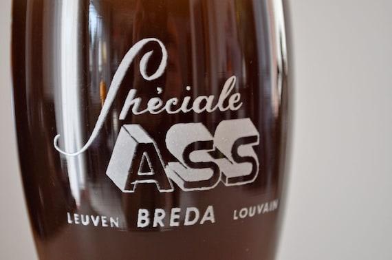 Vintage Belgian Beer Glass -- Speciale Ass Stemmed Beer Glass from Breda