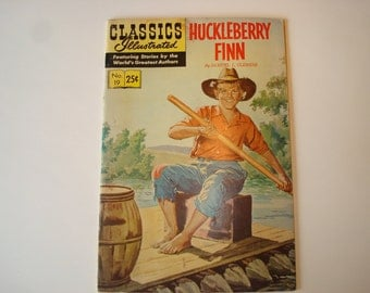 Comic Book -Classics Illustrated-'Huckleberry Finn'-1970