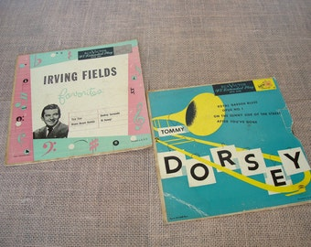 Vintage Records-Two Vintage RCA Victor 45 Extended Play Records-Tommy Dorsey and Irving Fields.