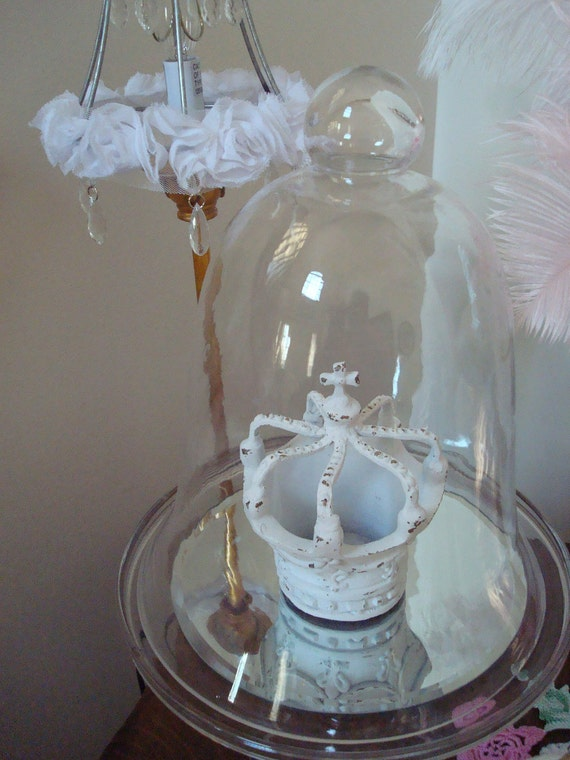 White Crown-Home Decor Crown-Shabby Chic-French-Paris Apartment-Marie Antoinette-Cottage