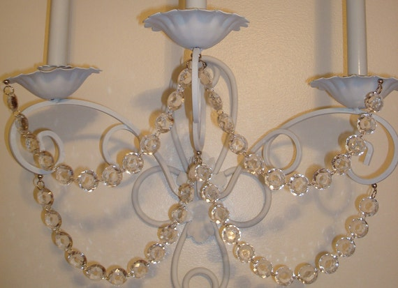 Acrylic Crystal Wall Decor: Magnetic Crystal Chain-4 Chandelier Crystal By TapersnPetals