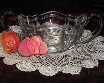 Beautiful Glass Sugar Bowl