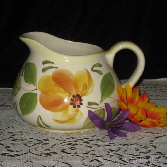 Hand Painted Pitcher made in Portugal REDUCED PRICE