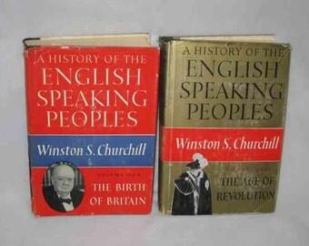 Neat Pair Vintage 1957 Winston S CHURCHILL Books