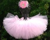 "Tutus: Light pink tutu/ballerina tutu/ custom tutus for your ""little princess""/classic pink tutu/ size newborn-12mths 1 2 3 & up"