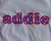 Personalized Girl Shirt - Infant or Toddler  - Monogrammed Shirt - Embroidered Name
