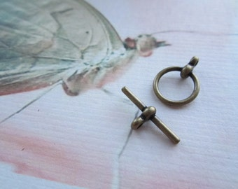 Brass Ox Toggle Clasps 10 sets