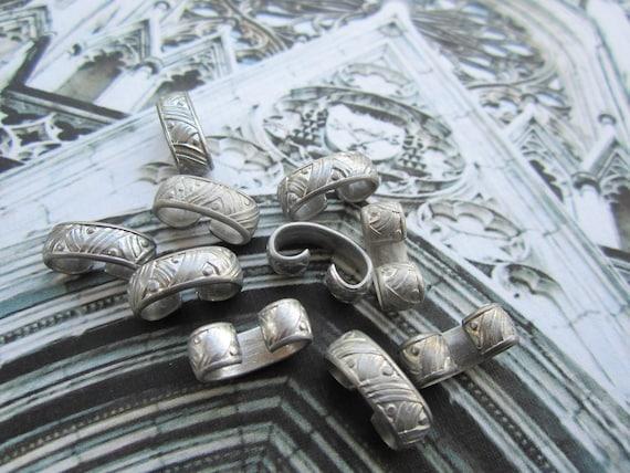 Vintage Silver Ornate Bracelet Connectors 10pcs.