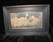 Victorian Art Nouveau French Fairy Children Print By Emile Munier 1898 Wooden Frame