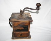 Early Dove Tailed German Coffee Grinder