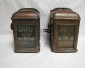RESERVED FOR Lily  Antique Trolley Car Counters Copper 1907 Philadelphia PRT Company Transportation advertising