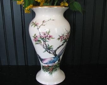 Mid Century  / 1950 California Originals Vase / Unmarked Blue Jay