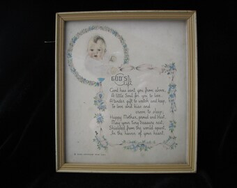 Baby Room Decor Framed Sentiment